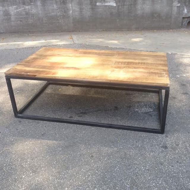 Iron And Wood Coffee Table Nadeau Atlanta