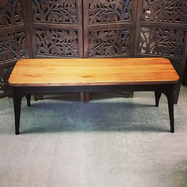 Iron And Wood Bench Nadeau Baton Rouge