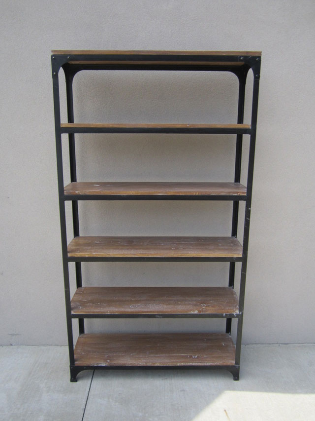 Iron And Wood Bookcase Nadeau Cincinnati
