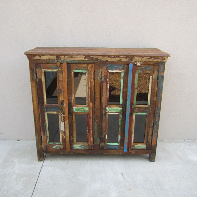 Tall Reclaimed Wood Buffet - Tall Reclaimed Wood Buffet - Nadeau Indianapolis