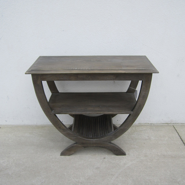 Half Circle Coffee Table Part - 43: Half Round Table With Shelf