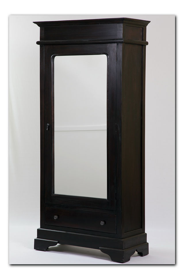 Wardrobe Cabi  With Mirror on nadeau furniture console