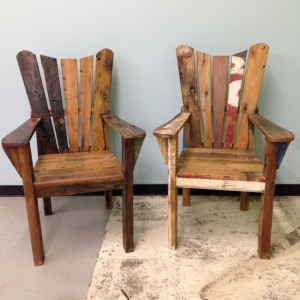 Boat Wood Arm Chair