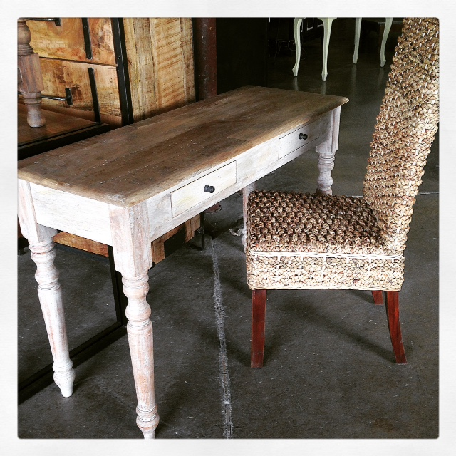 Turned Leg Console Table