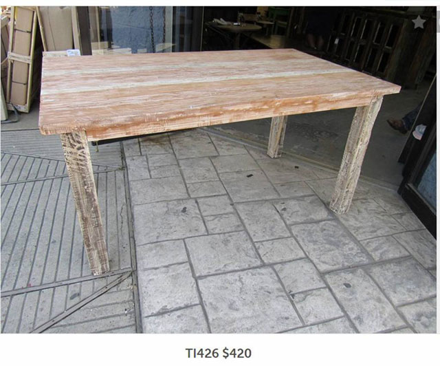 Rustic Dining Table Nadeau Los Angeles - Kitchen table los angeles
