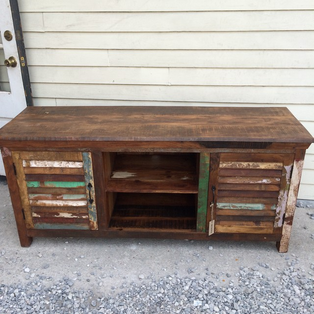 Reclaimed Wood T V Stand